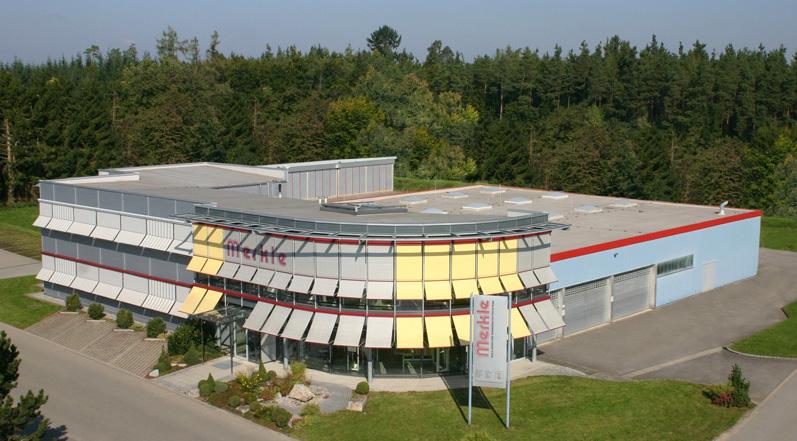 Merkle Firmengebäude von oben