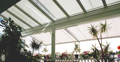 Beschattungen für Glasdächer