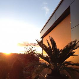 außenliegender und windfester Sonnenschutz